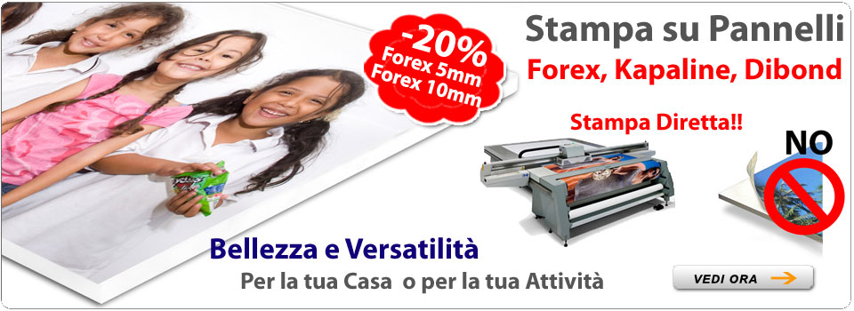 Stampa pannelli forex napoli
